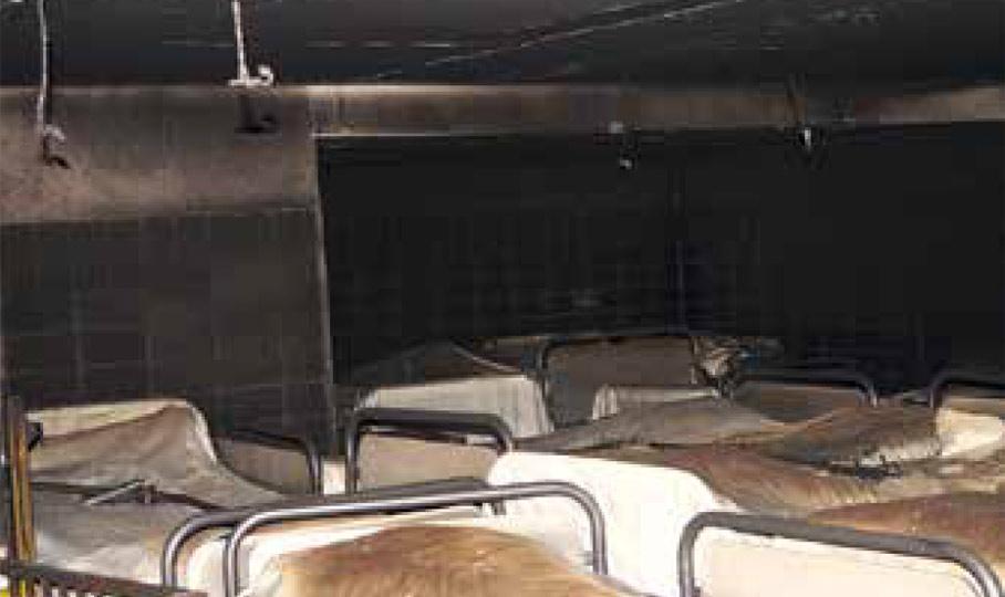 Brand in Bettenzentrale