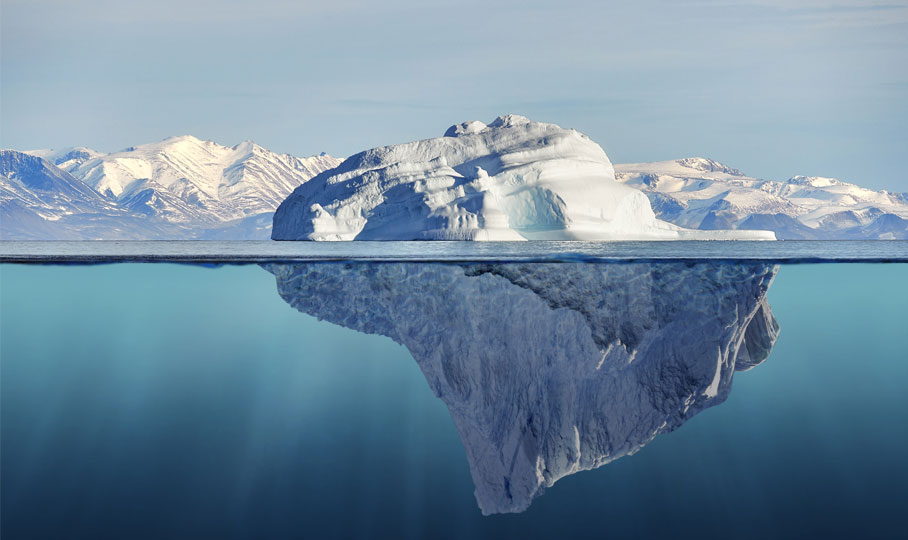 Eisberg Wasser Meer