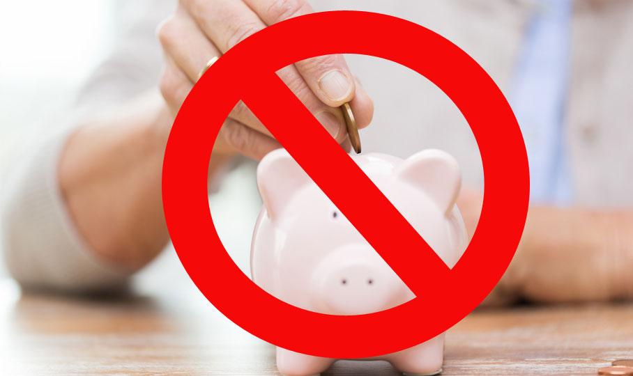 falsch sparen Sparschwein