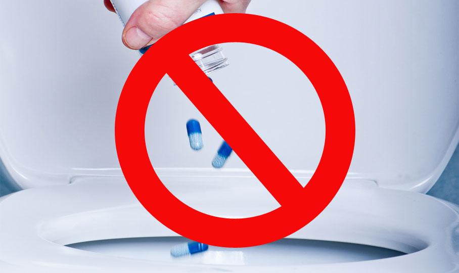 Medikamente nicht in die Toilette