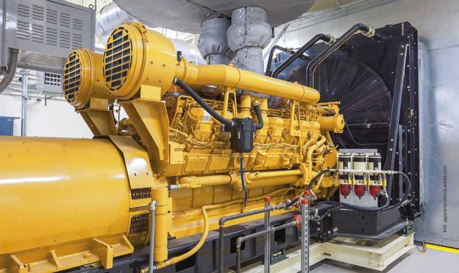 Dieselbetriebene Notstromaggregate